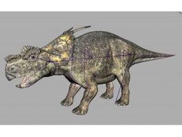 Achelousaurus Dinosaur Rig 3d model preview