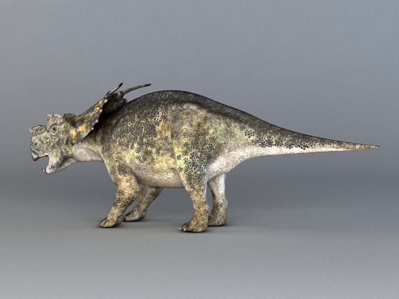 Achelousaurus Dinosaur Rig 3d rendering