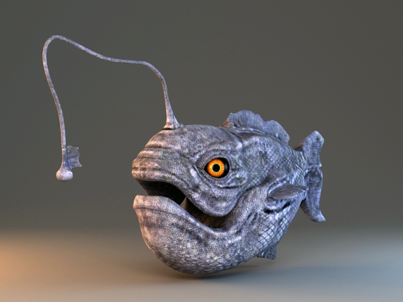Angler Fish Rig 3d rendering