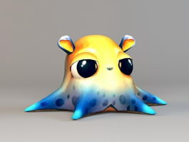 Cartoon Octopus 3d preview
