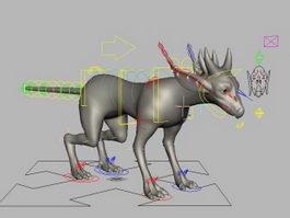 Reptilian Monster Rig 3d model preview