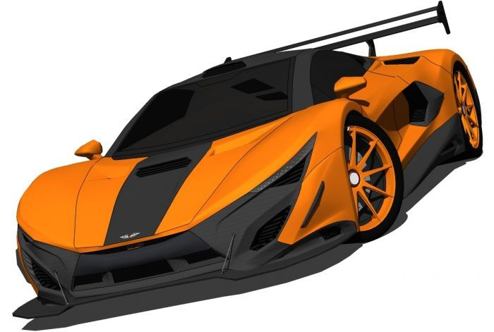 Specter GT3 3d rendering