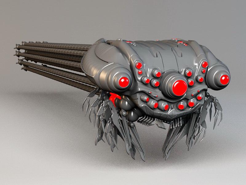 Matrix Sentinel 3d rendering