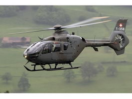 EC-635 Attack Helicopter 3d preview