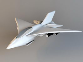 Falcon Fighter Jet 3d model preview
