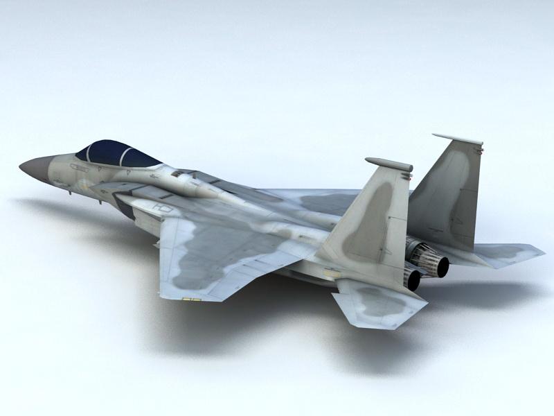 F-15C Eagle Fighter 3d rendering