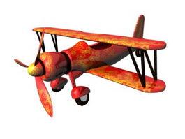 Cartoon Biplane 3d preview