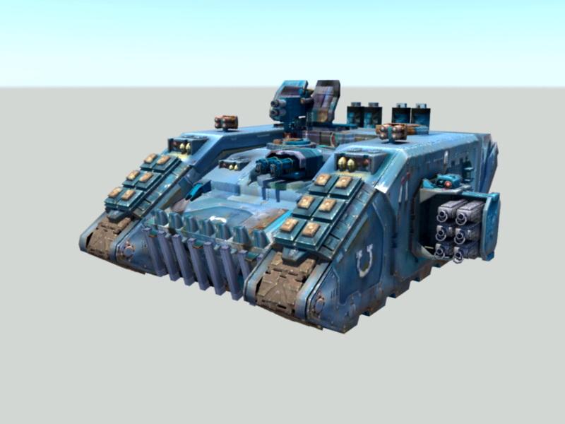 Sci-Fi Battle Tank 3d rendering