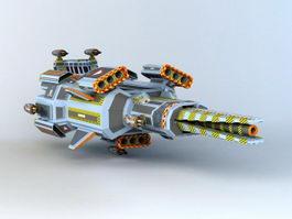 Sci-Fi Space Frigate 3d preview