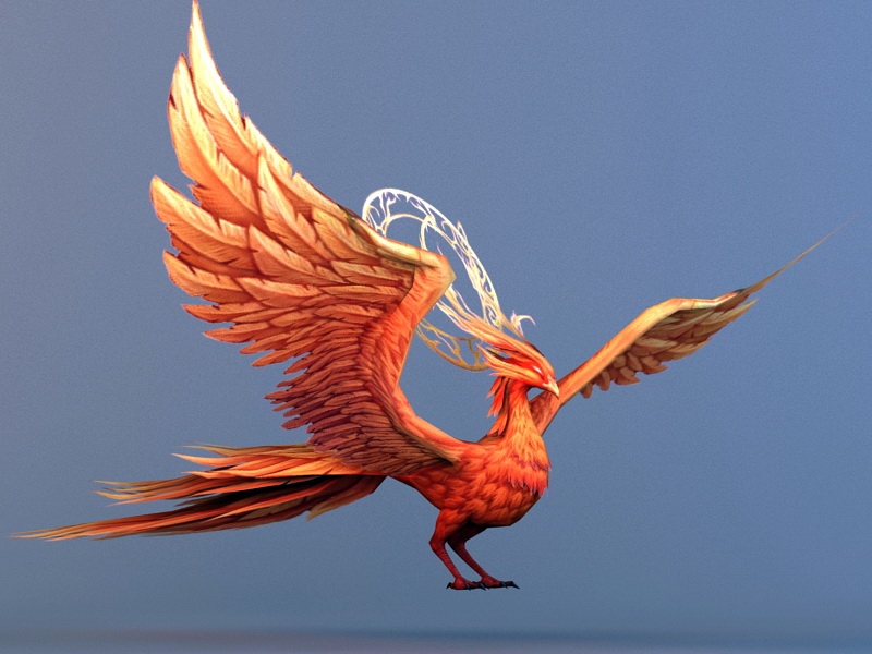 Phoenix Bird 3d Model 3ds Max Files Free Download