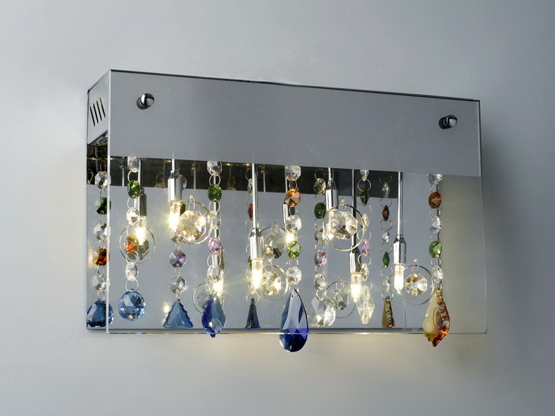 Crystal Wall Sconces 3d rendering