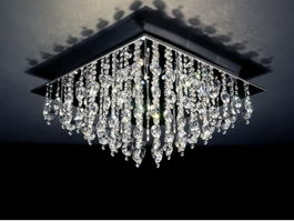 Crystal Flush Chandelier 3d preview