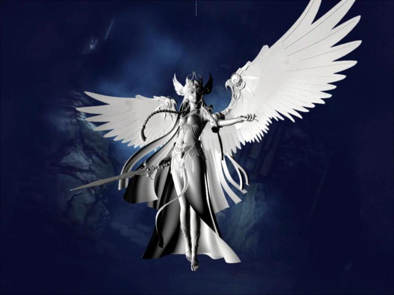 Angel Warrior 3d rendering