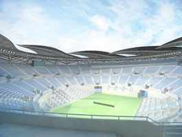 animated stadium 3d model preview