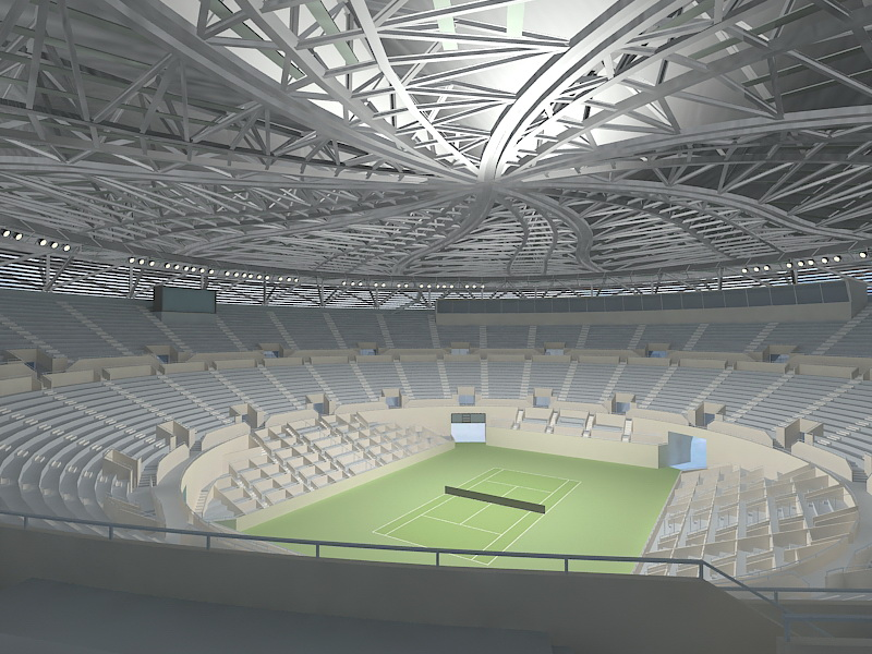 animated stadium 3d rendering