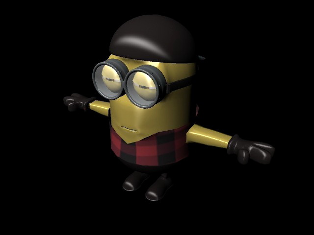 Minions Rig 3d rendering