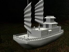 Ancient Chinese Treasure Ship 3d preview
