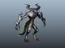 Demon Lord Rig 3d model preview