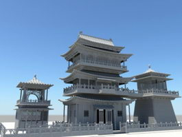 Ancient Chinese Palace 3d preview