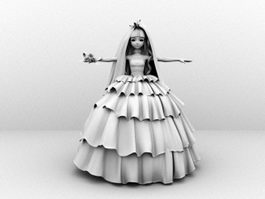 Cartoon Bride 3d preview