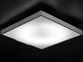 Square Ceiling Light 3d preview
