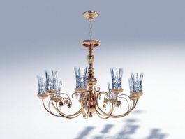Victorian Brass Chandelier 3d preview
