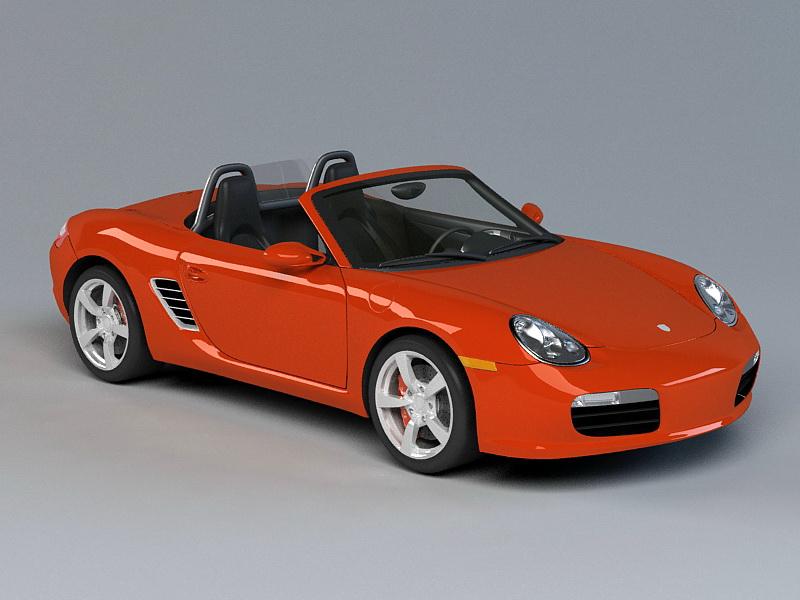 Porsche 718 Boxster 3d rendering