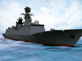 Type 054 Frigate 3d preview