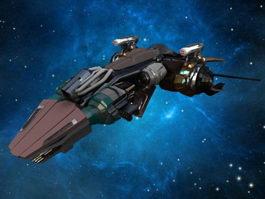 Sci Fi Starship 3d model preview