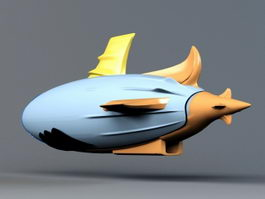 Cartoon Airship 3d preview
