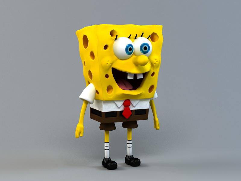SpongeBob SquarePants 3d rendering