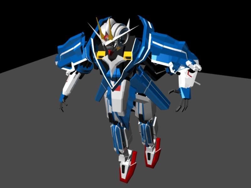 Gundam Seven Sword Animated & Rig 3d rendering