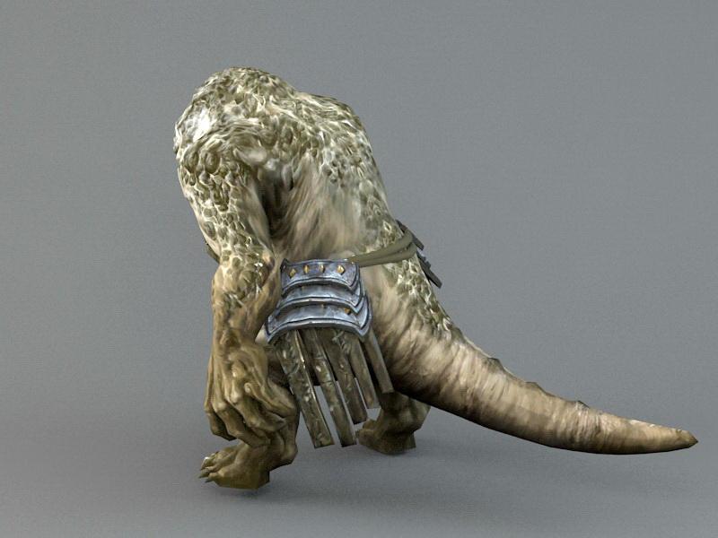 Lizard Warrior 3d rendering