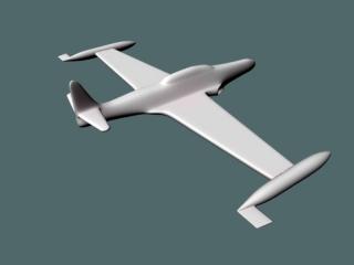 Cartoon Plane 3d preview