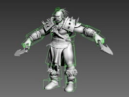 Male Orc Warrior Rig 3d preview