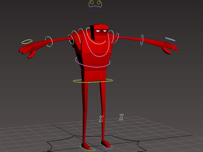 Bee-Boy Rig 3d rendering