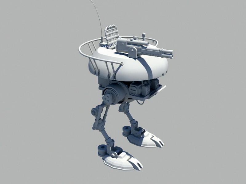 Future Mech Walker Rig 3d rendering