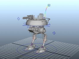Future Mech Walker Rig 3d preview