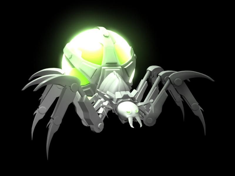 Mecha Spider 3d rendering