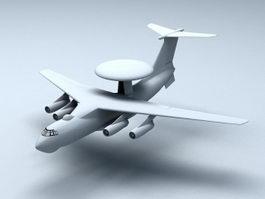 KJ-2000 AWACS Aircraft 3d model preview
