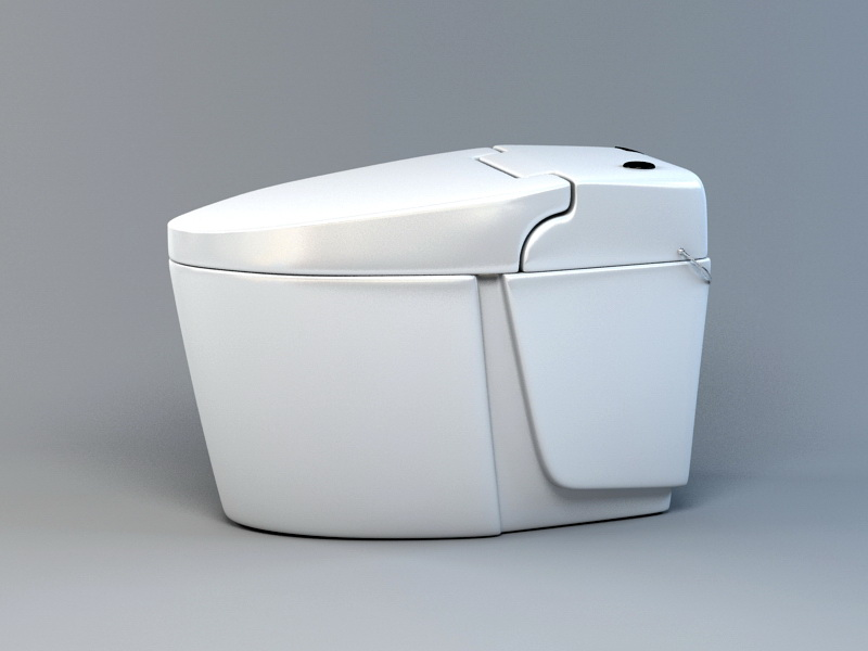 Intelligent Toilet 3d rendering
