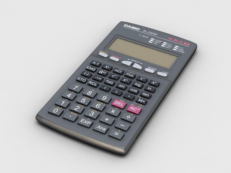 Electronic Pocket Calculator 3d rendering