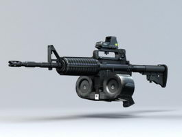 M4 with Magazine 3d preview
