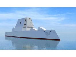 Zumwalt-class Destroyer 3d model preview