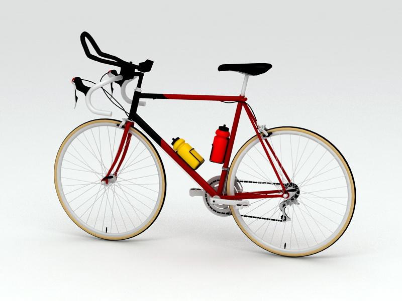 Vintage Racing Bicycle 3d rendering
