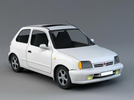 Old Fiat Car 3d preview