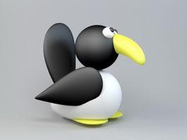 Cartoon Bird 3d model preview