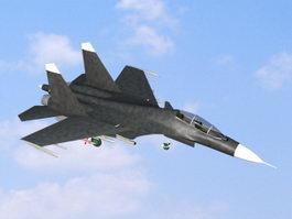 Jet Fighter 3d model preview