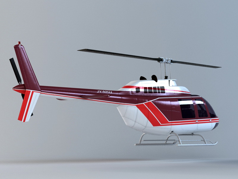Executive Helicopter 3d rendering