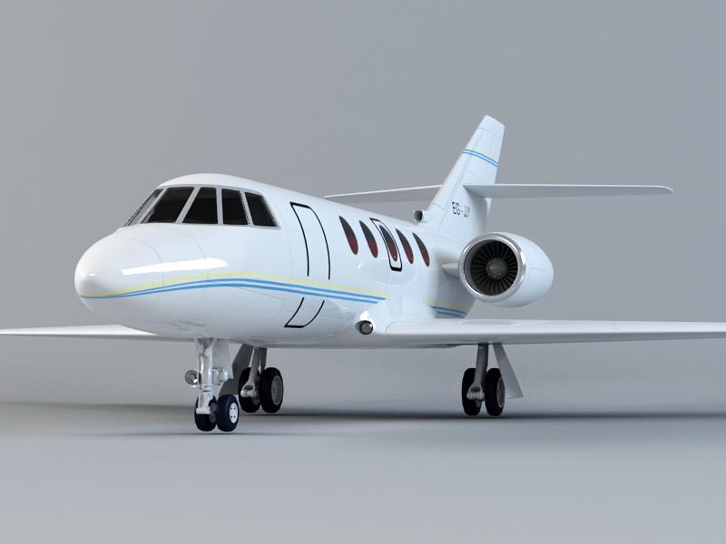 Jet Business Plane 3d rendering
